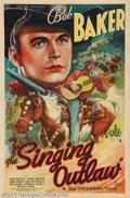 """Movie Posters:Western, The Singing Outlaw (Universal, 1938). One Sheet (27"""" X 41""""). AfterCarl Laemmle sold Universal Pictures, the NEW Universal o..."""