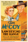 "Movie Posters:Western, Law Beyond the Range (Columbia, 1935). One Sheet (27"" X 41"").Recruited by Hollywood to provide Indian extras for the film ""..."