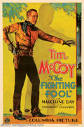 "Movie Posters:Western, Fighting Fool, The (Columbia, 1932). One Sheet (27"" X 41""). Fine onLinen. ..."