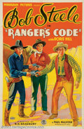 "Movie Posters:Western, Ranger's Code (Monogram, 1933). One Sheet (27"" X 41"") In the late1920's FBO Studios, the distributor of ""B"" western films s..."