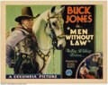 "Movie Posters:Western, Men Without Law (Columbia, 1930). Title Lobby Card (11"" X 14"").VeryFine. ..."