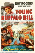 """Movie Posters:Western, Young Buffalo Bill (Republic, 1940). One Sheet (27"""" X 41""""). He wasborn Leonard Slye but will always be remembered as Roy Ro..."""