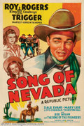 "Movie Posters:Western, Song of Nevada (Republic, 1944). One Sheet (27"" X 41""). Very Fineon Linen. ..."