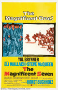 "Movie Posters:Western, The Magnificent Seven (United Artists, 1960). One Sheet (27"" X41""). Based on Akira Kurosawa's ""The Seven Samurai,"" this wes..."
