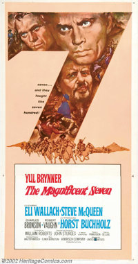 """Magnificent Seven, The (United Artists, 1960). Three Sheet (47"""" X 81""""). This larger format is generally consid..."""