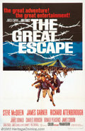 "Movie Posters:Adventure, The Great Escape (United Artists, 1963). One Sheet (27"" X 41"").Steve McQueen (Cooler King), James Garner (the Scrounger), C..."