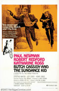 """Movie Posters:Western, Butch Cassidy and the Sundance Kid (20th Century Fox, 1969). OneSheet (27"""" X 41"""") Style B. Robert Redford and Paul Newman t..."""