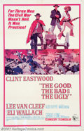 "Movie Posters:Western, Good, the Bad, and the Ugly, The (United Artists, 1968). One Sheet(27"" X 41""). Sergio Leone's Civil War trilogy staring Cli..."
