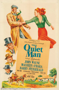 """The Quiet Man (Republic, 1950). One Sheet (27"""" X 41""""). John Ford's personal favorite of all of his films was &..."""