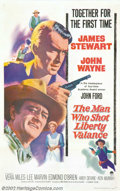 "Movie Posters:Western, The Man Who Shot Liberty Valence (Paramount, 1962). One Sheet (27""X 41""). James Stewart stars as an attorney trying to use ..."