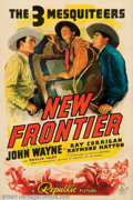 "Movie Posters:Western, New Frontier, The. (Republic, 1939). One Sheet (27"" X 41""). JohnWayne, in his stint at Republic, did a number of the long-r..."