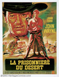 "Movie Posters:Western, Searchers, The (Warner Brothers, 1956). French Petite (22"" X 30"").""The Searchers"" is considered by most to be one of the to..."