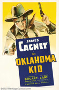 "Movie Posters:Western, The Oklahoma Kid (Warner Brothers, 1939). One Sheet (27"" X 41"").Pistol packin' James Cagney and desperado Humphrey Bogart s..."