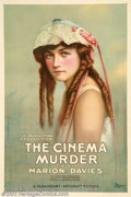 "Movie Posters:Mystery, Cinema Murder (Paramount, 1919). One Sheet (27"" X 41""). Marion Davies was one of the silent screens leading comediennes and ..."