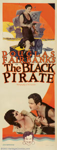 "Movie Posters:Adventure, Black Pirate, The (United Artists, 1926). Insert (14"" X 36"").Douglas Fairbanks performed some of his most amazing stunts in..."