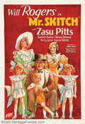"Movie Posters:Comedy, Mr. Skitch (Fox, 1933). One Sheet (27"" X 41"") Will Rogers is the head of a large family that fall victim to the Great Depres..."