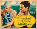 """Movie Posters:Animated, Chained (MGM, 1934). Half Sheet (22"""" X 28""""). MGM cast two of it'sleading stars, Joan Crawford and Clark Gable, in this roma..."""