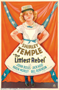 "Littlest Rebel, The (Fox, 1935). One Sheet (27"" X 41""). Shirley Temple stars in this story of a moppett who he..."