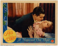"Movie Posters:Comedy, It Happened One Night (Columbia, R-1937). Lobby Card (11"" X 14"").This romantic lobby features the films two leads, Clark Ga..."