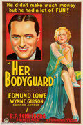 "Movie Posters:Comedy, Her Bodyguard (Paramount, 1933). One Sheet (27"" X41"") Thiswonderful stone-litho style poster was used to promote one ofPar..."