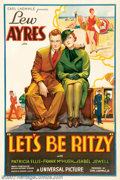 "Movie Posters:Comedy, Let's Be Ritzy (Universal, 1934). One Sheet(27"" X 41"") UniversalStudios produced some of the most beautiful posters during ..."