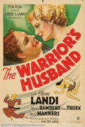 "Movie Posters:Comedy, Warrior's Husband, The (Fox, 1933). One Sheet (27"" X 41"") Based ona Broadway production that starred Katherine Hepburn, the..."