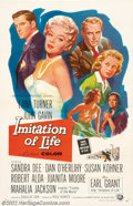 "Movie Posters:Drama, Imitation of Life (Universal, 1959). One Sheet (27"" X 41""). Very Fine/Near Mint on Linen. ..."
