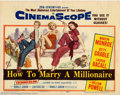 "Movie Posters:Comedy, How to Marry a Millionaire (20th Century Fox, 1953). Title LobbyCard (11"" X 14"").Very Fine/Near Mint. ..."