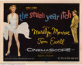 "Movie Posters:Comedy, Seven Year Itch, The (20th Century Fox, 1955). Title Lobby Card(11"" X 14""). This is THE title card to get on Marilyn Monroe..."