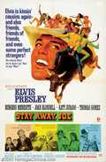 "Movie Posters:Musical, Stay Away, Joe (MGM, 1968). One Sheet (27"" X 41""). Elvis Presleywas cast in this western comedy about a rodeo star who retu..."