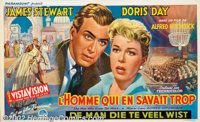 """Man Who Knew Too Much, The (Paramount, 1956). Belgian (21.5"""" X 13""""). This film has the distinction of being th..."""