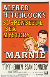 """Marnie (Universal, 1964). One Sheet (27"""" X 41""""). Alfred Hitchcock cast his leading lady from """"The Birds,&..."""