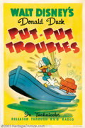 "Movie Posters:Animated, Put-Put Troubles (RKO, 1940). One Sheet (27"" X 41""). Carl Barks iscredited with writing this short about our favorite duck'..."