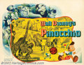 """Movie Posters:Animated, Pinocchio (RKO, 1940). Half Sheet (22"""" X 28"""") Style B. Pinocchioand Jiminy Crickett are off on a series of adventures as th..."""