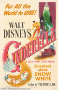 "Movie Posters:Animated, Cinderella (RKO, 1950). One Sheet (27"" X 41""). Near Mint/Mint. ..."
