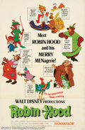 "Movie Posters:Animated, Robin Hood (Buena Vista, 1971). One Sheets (27"" X 41"") (2). Boththe advance and the regular one sheets are offered here. Ve..."