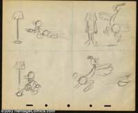 Donald Duck Storyboards #3 (RKO, 1942). Donald Duck tries to escape the amorous advances of a smitten ostrich in this ex...