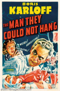 """Movie Posters:Horror, Man They Could Not Hang, The (Columbia, 1939). One Sheet (27"""" X 41""""). Boris Karloff plays Dr. Henryk Savaard, a man obsessed..."""