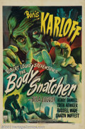 "Movie Posters:Horror, The Body Snatcher (RKO, 1945). One Sheet (27"" X 41""). This one has it all! Legendary horror producer Val Lewton brought in d..."