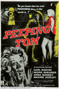 "Movie Posters:Horror, Peeping Tom (Anglo Amalgamated, 1960). British One Sheet (27"" X 40""). Michael Powell was one of the British cinema's leading..."