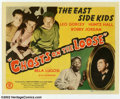 "Movie Posters:Comedy, Ghosts on the Loose (Monogram, 1943). Title Lobby Card (11"" X 14""). At the time of this film, the ""Dead End Kids"" had given ..."
