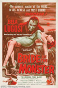 "Movie Posters:Horror, Bride of the Monster, The (Filmakers Releasing Organization, 1956). One Sheet (27"" X 41""). Ed Wood, the king of bad cinema, ..."