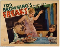 """Freaks (MGM, 1932). Lobby Card (11"""" X 14""""). This film, which actually used circus sideshow """"freaks""""..."""