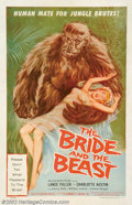 "Movie Posters:Horror, Bride and the Beast, The (Allied Artists, 1958). One Sheet (27"" X 41""). This film's only claim to fame may be that it was wr..."