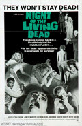 """Movie Posters:Horror, Night of the Living Dead (Continental, 1968). One Sheet (27"""" X 41"""") Considered at the time of its release to be the most hor..."""