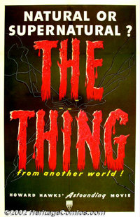 """The Thing From Another World (RKO, 1951). One Sheet (27"""" X 41""""). Although the film lists the director as Chris..."""