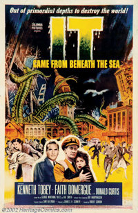 """It Came From Beneath the Sea (Columbia, 1955). One Sheet (27"""" X 41""""). A giant six-arm octopus wreaks havoc on..."""