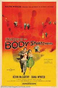 "Invasion of the Body Snatchers (Allied Artists, 1956). One Sheet (27"" X 41""). One of the most important scienc..."