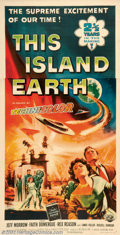 """Movie Posters:Science Fiction, This Island Earth (Universal, 1955). Three Sheet (41"""" X 81""""). Earth's scientist are lured by aliens to save their dying plan..."""