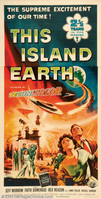 "This Island Earth (Universal, 1955). Three Sheet (41"" X 81""). Earth's scientist are lured by aliens to save th..."